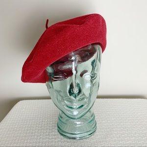 Vintage wool Beret Hat.